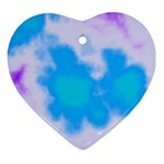 Blue And Purple Clouds Ornament (Heart)