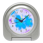 Blue And Purple Clouds Travel Alarm Clock