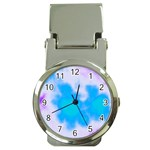 Blue And Purple Clouds Money Clip Watch