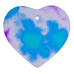 Blue And Purple Clouds Heart Ornament (Two Sides)