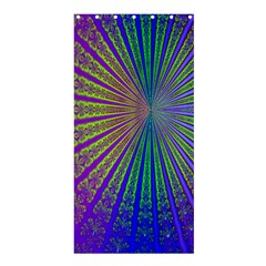 Blue Fractal That Looks Like A Starburst Shower Curtain 36  X 72  (stall)  by Simbadda