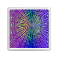 Blue Fractal That Looks Like A Starburst Memory Card Reader (square)  by Simbadda