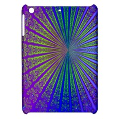 Blue Fractal That Looks Like A Starburst Apple Ipad Mini Hardshell Case by Simbadda