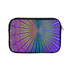 Blue Fractal That Looks Like A Starburst Apple Ipad Mini Zipper Cases by Simbadda
