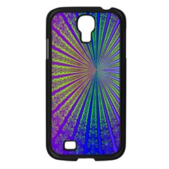 Blue Fractal That Looks Like A Starburst Samsung Galaxy S4 I9500/ I9505 Case (black) by Simbadda