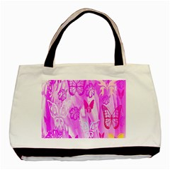 Butterfly Cut Out Pattern Colorful Colors Basic Tote Bag by Simbadda