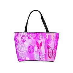 Butterfly Cut Out Pattern Colorful Colors Shoulder Handbags by Simbadda