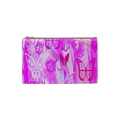 Butterfly Cut Out Pattern Colorful Colors Cosmetic Bag (small)  by Simbadda