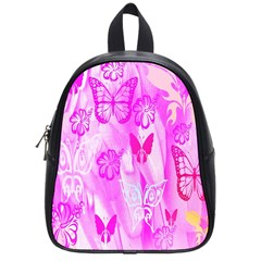 Butterfly Cut Out Pattern Colorful Colors School Bags (small)  by Simbadda