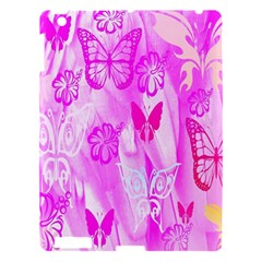 Butterfly Cut Out Pattern Colorful Colors Apple Ipad 3/4 Hardshell Case by Simbadda