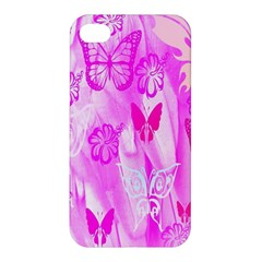 Butterfly Cut Out Pattern Colorful Colors Apple Iphone 4/4s Premium Hardshell Case by Simbadda