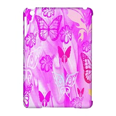 Butterfly Cut Out Pattern Colorful Colors Apple Ipad Mini Hardshell Case (compatible With Smart Cover) by Simbadda