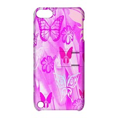 Butterfly Cut Out Pattern Colorful Colors Apple Ipod Touch 5 Hardshell Case With Stand by Simbadda