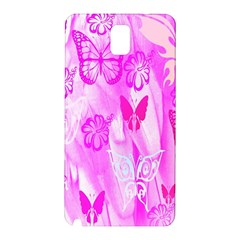 Butterfly Cut Out Pattern Colorful Colors Samsung Galaxy Note 3 N9005 Hardshell Back Case by Simbadda