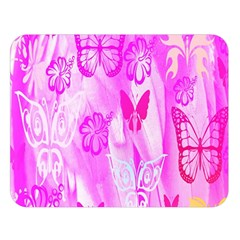Butterfly Cut Out Pattern Colorful Colors Double Sided Flano Blanket (large)  by Simbadda