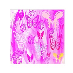 Butterfly Cut Out Pattern Colorful Colors Small Satin Scarf (square) by Simbadda