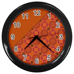 Vintage Paper Kraft Pattern Wall Clocks (black)