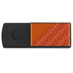 Vintage Paper Kraft Pattern Usb Flash Drive Rectangular (4 Gb) by Simbadda