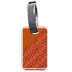 Vintage Paper Kraft Pattern Luggage Tags (two Sides) by Simbadda
