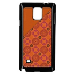 Vintage Paper Kraft Pattern Samsung Galaxy Note 4 Case (black)