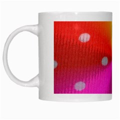 Polka Dots Pattern Colorful Colors White Mugs by Simbadda