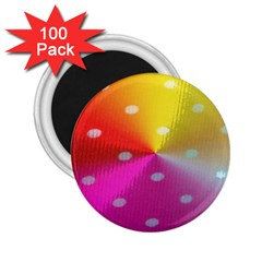 Polka Dots Pattern Colorful Colors 2 25  Magnets (100 Pack)  by Simbadda