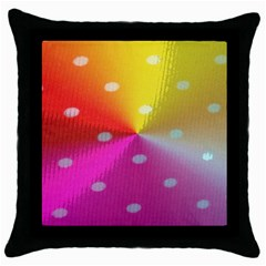 Polka Dots Pattern Colorful Colors Throw Pillow Case (black) by Simbadda