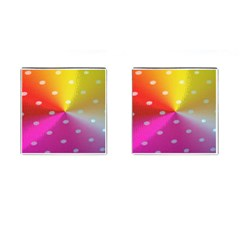Polka Dots Pattern Colorful Colors Cufflinks (square) by Simbadda