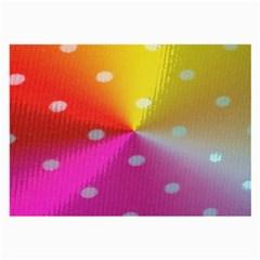 Polka Dots Pattern Colorful Colors Large Glasses Cloth by Simbadda