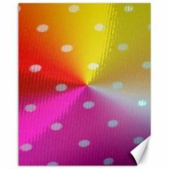 Polka Dots Pattern Colorful Colors Canvas 11  X 14   by Simbadda