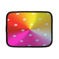 Polka Dots Pattern Colorful Colors Netbook Case (small)  by Simbadda