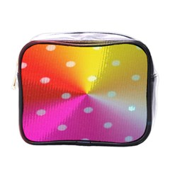 Polka Dots Pattern Colorful Colors Mini Toiletries Bags by Simbadda