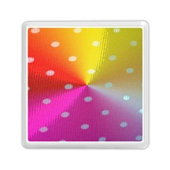 Polka Dots Pattern Colorful Colors Memory Card Reader (square)  by Simbadda