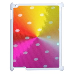 Polka Dots Pattern Colorful Colors Apple Ipad 2 Case (white) by Simbadda