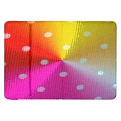Polka Dots Pattern Colorful Colors Samsung Galaxy Tab 8 9  P7300 Flip Case by Simbadda