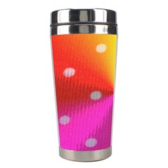 Polka Dots Pattern Colorful Colors Stainless Steel Travel Tumblers by Simbadda