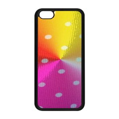 Polka Dots Pattern Colorful Colors Apple Iphone 5c Seamless Case (black) by Simbadda