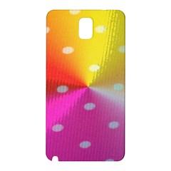 Polka Dots Pattern Colorful Colors Samsung Galaxy Note 3 N9005 Hardshell Back Case by Simbadda