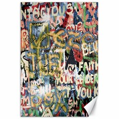 Graffiti Wall Pattern Background Canvas 20  X 30   by Simbadda