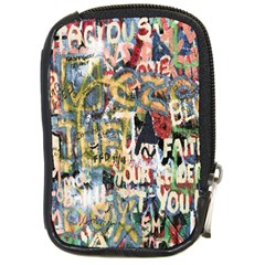 Graffiti Wall Pattern Background Compact Camera Cases by Simbadda