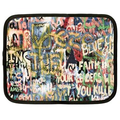 Graffiti Wall Pattern Background Netbook Case (xxl)  by Simbadda