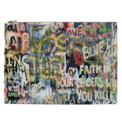 Graffiti Wall Pattern Background Cosmetic Bag (xxl)  by Simbadda