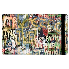 Graffiti Wall Pattern Background Apple Ipad 2 Flip Case by Simbadda