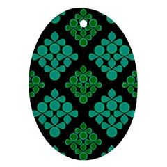 Vintage Paper Kraft Pattern Oval Ornament (two Sides) by Simbadda