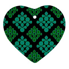 Vintage Paper Kraft Pattern Heart Ornament (two Sides) by Simbadda