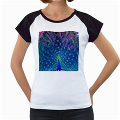 Amazing Peacock Women s Cap Sleeve T