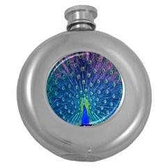 Amazing Peacock Round Hip Flask (5 Oz) by Simbadda