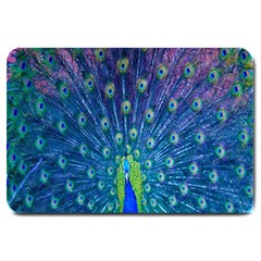 Amazing Peacock Large Doormat  by Simbadda