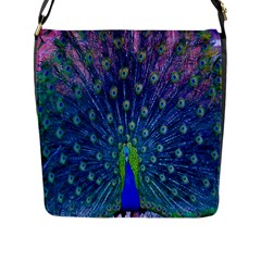 Amazing Peacock Flap Messenger Bag (l)  by Simbadda
