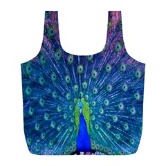 Amazing Peacock Full Print Recycle Bags (l)  by Simbadda